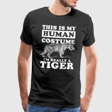 I'm really a Tiger Carnival Halloween - Men's Premium T-Shirt