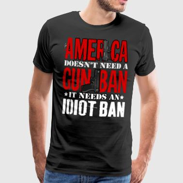 Interdiction des armes ou interdiction d'Idoten - T-shirt Premium Homme
