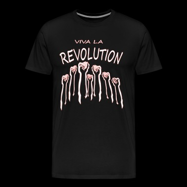 viva la revolution fists riot demo T-shirt - Men's Premium T-Shirt