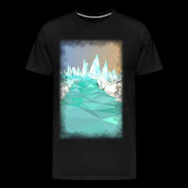 Low Poly Glacier - Men's Premium T-Shirt