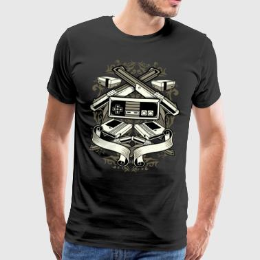 Video Games Kansspelen Oude retro joystick spel - Mannen Premium T-shirt