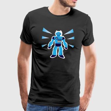 Blue Robot Cyborg Robots Machine Gift - Men's Premium T-Shirt