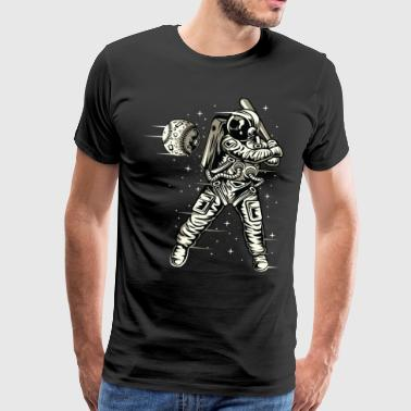 Space Baseball Astronaut Space ketcher - Herre premium T-shirt