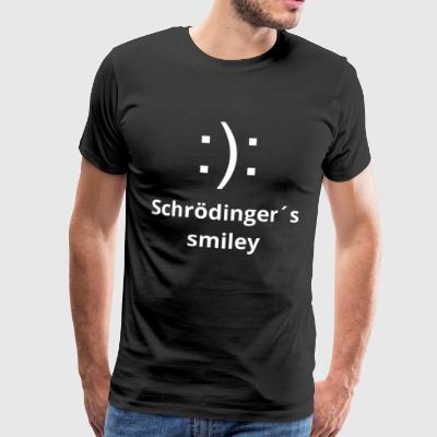 Schroedinger's Smiley Physics Nerd T-Shirt Pullover - Men's Premium T-Shirt