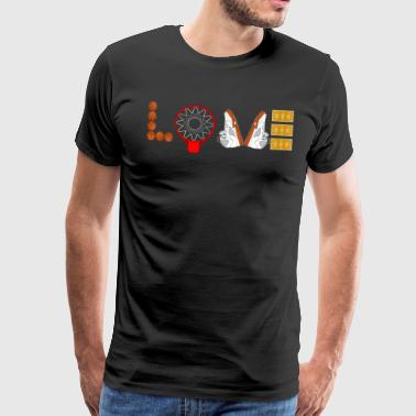 Love Basketball Sport Slam Dunk Fan Ball Schuhe - Männer Premium T-Shirt
