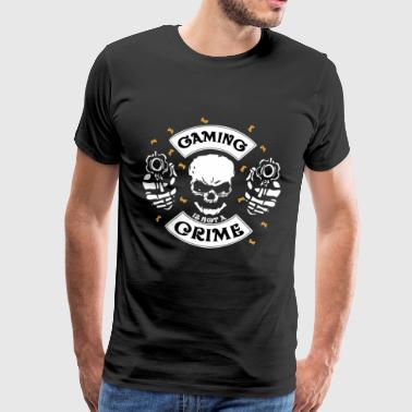 Gaming is geen misdaad Gamer Gift - Mannen Premium T-shirt