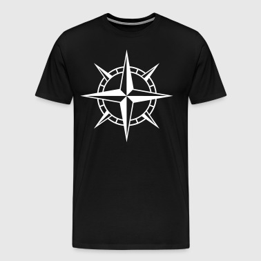 Wind Rose Cross - Premium-T-shirt herr
