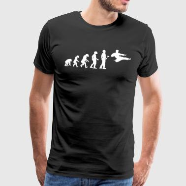 Evolutionstheorie Karate - Männer Premium T-Shirt