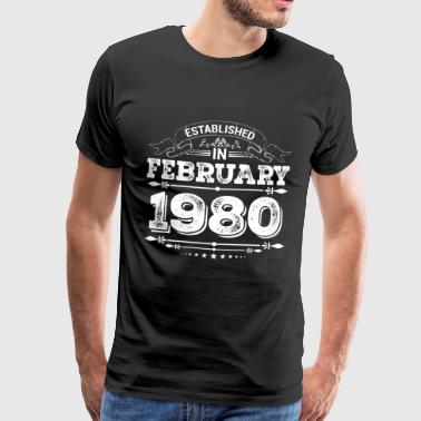 Established in February 1980 - Männer Premium T-Shirt
