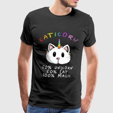 Kawaii Caticorn Einhorn Katze - Magic Unicorn - Männer Premium T-Shirt