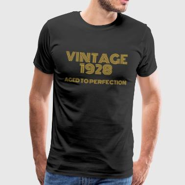 Vintage Pop Art 1928 anniversaire. Vieilli à la perfection. - T-shirt Premium Homme