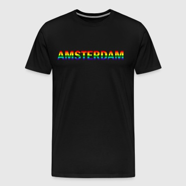 Amsterdam in rainbow colors - Men's Premium T-Shirt