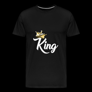 King,Royal Prince,Kings and Queens Matching Couple - Men's Premium T-Shirt