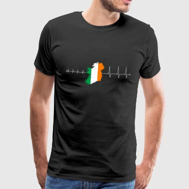 Heartbeat Ireland - I love Ireland - Men's Premium T-Shirt