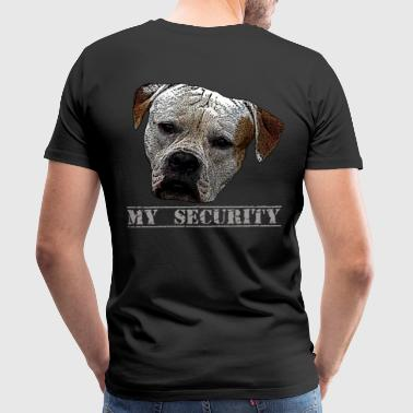 Attack dog, dog, dog head, security, guard dog - Men's Premium T-Shirt