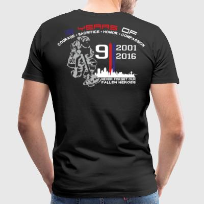 9/11 Ground Zero 15 Years Anniversary - Premium T-skjorte for menn
