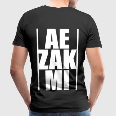 AEZAKMI-white, back - Men's Premium T-Shirt