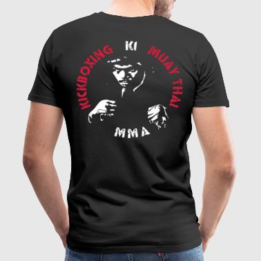 MMA Fighter Face - 2 colors - Koszulka męska Premium