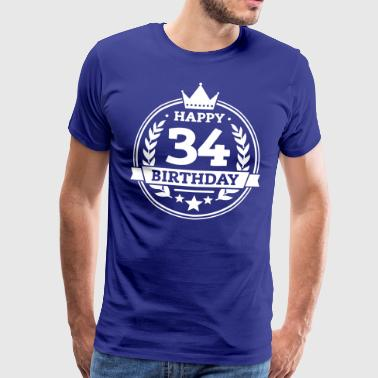 Happy 34. Birthday - Männer Premium T-Shirt