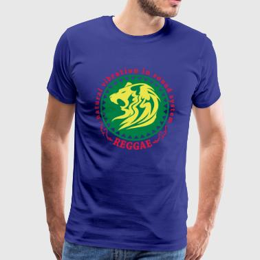 natural vibration in sound system reggae - Männer Premium T-Shirt