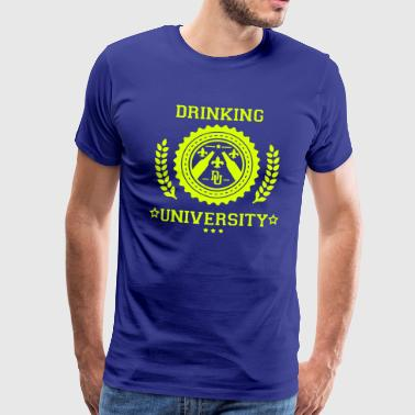 drinkke universitet - Herre premium T-shirt