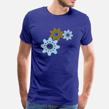 Steampunk Cogs working cogs - Men's Premium T-Shirt