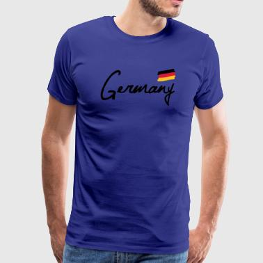 Duitsland - Germany - vlag-Duitsland-flag football - Mannen Premium T-shirt