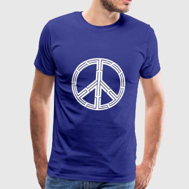 Tribal tattoo peace sign - Men's Premium T-Shirt