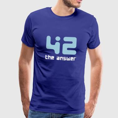 42, the Answer Antwort Galaxis Science Fiction UFO - Männer Premium T-Shirt