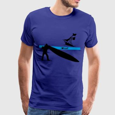 I love surf - Men's Premium T-Shirt