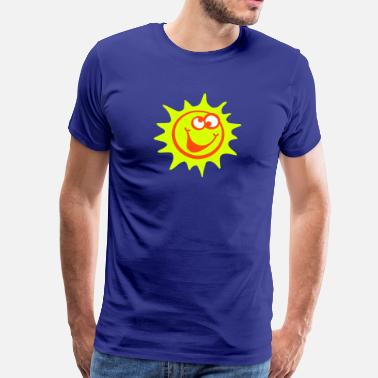 Strahlemaus sonne 3c smiley / comic style - Männer Premium T-Shirt