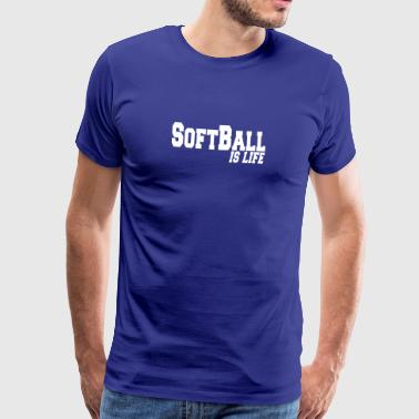 softball is life - Mannen Premium T-shirt