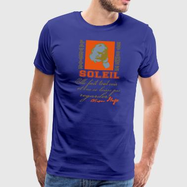 La Vérité soleil citation Victor Hugo - Men's Premium T-Shirt
