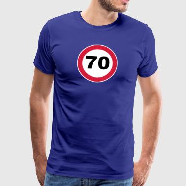 70. Birthday 70 70er round birthday 3c - Men's Premium T-Shirt
