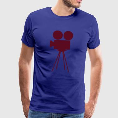 Camera, objective, photo, film, Movie, Cinema, cinema, projector, rolls, dia., canvas, direction, producer, crew, photographing, camera, Digicam, video home system, video, miniDV, digital, similarly, stand  - Men's Premium T-Shirt