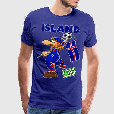 Huh Fan Island - Supporter of Island - Männer Premium T-Shirt