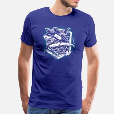 World Of Warships Battleship Whale - Herre premium T-shirt