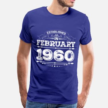 Vintage 1960 Established in February 1960 - Men's Premium T-Shirt