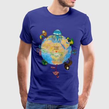 Save The Planet Animal Friends - The Keepers of Orbis - Mannen Premium T-shirt