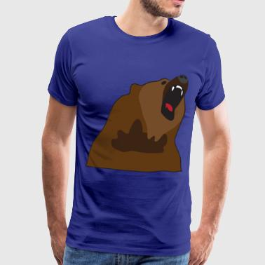 Growling Bear - Men's Premium T-Shirt