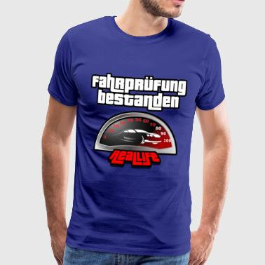 Driving test passed driver's license car motorcycle - Men's Premium T-Shirt