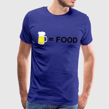 Beer Is Food Beer = Food - Men's Premium T-Shirt