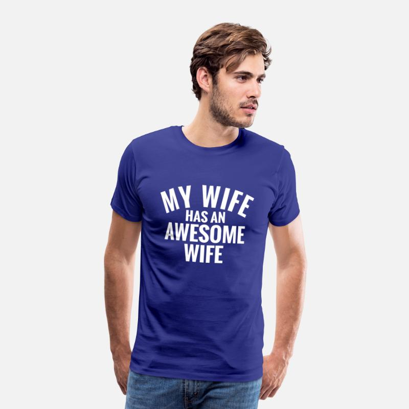 Lesbian Wife T-Shirts - My Wife has an awesome Wife.Gay Girl Couple Gifts - Men's Premium T-Shirt royal blue