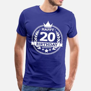20 Birthday Happy 20. Birthday - Männer Premium T-Shirt