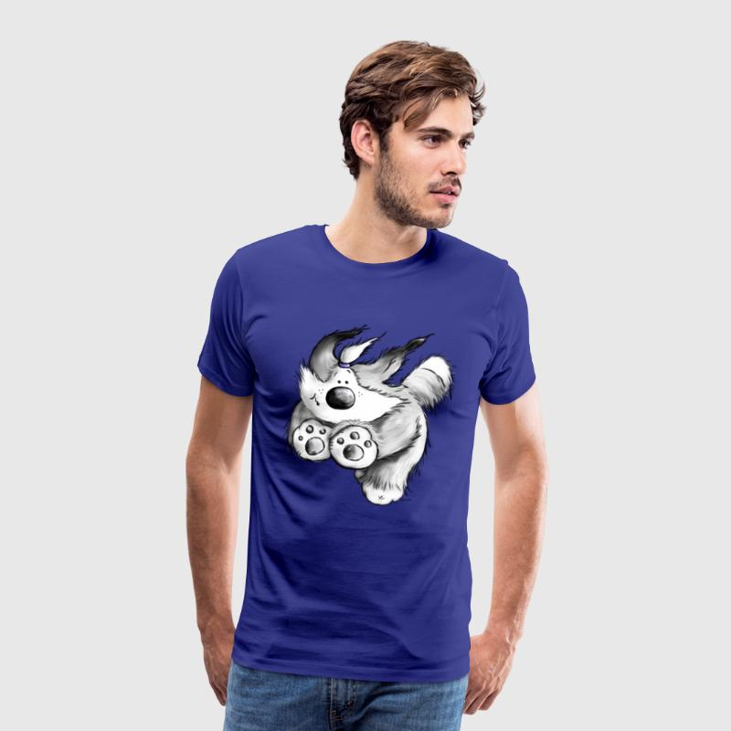 Flying Bearded Collie- Chien - T-shirt Premium Homme