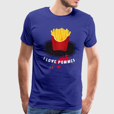 fries ketchup I love french fries ketchup - Mannen Premium T-shirt