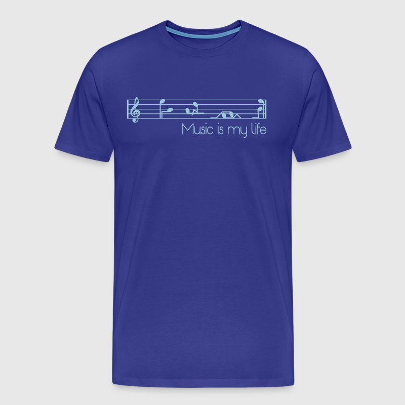 music is my life - Men's Premium T-Shirt