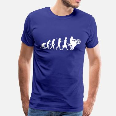 Humour Motard Evolution Motard - T-shirt Premium Homme