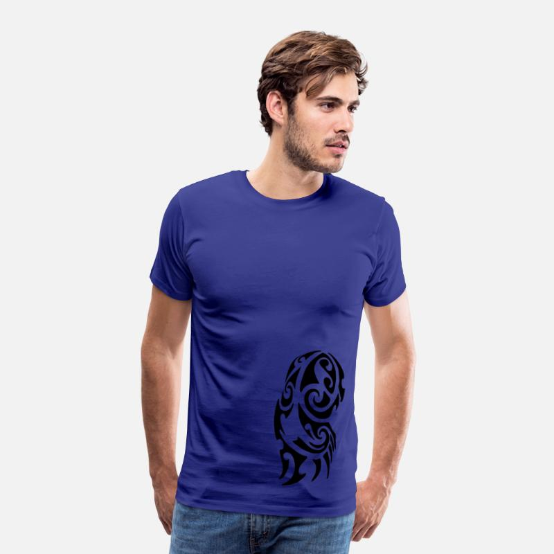 Maori T-Shirts - Maori Tattoo - Men's Premium T-Shirt royal blue