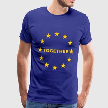 EU Together Europa together - Männer Premium T-Shirt